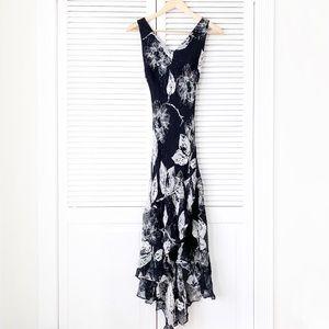 Morrell Maxie Floral Silk Jersey Dress NWOT